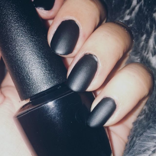 Matte black mani to match my mood